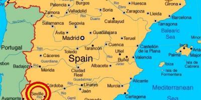 Sevilje Mapu Mape Sevilje Andaluzije Spanjolska